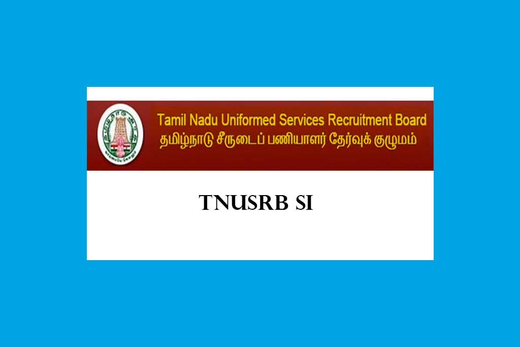 TNUSRB Sub Inspector of Police Preliminary Answer Key Released 2020
