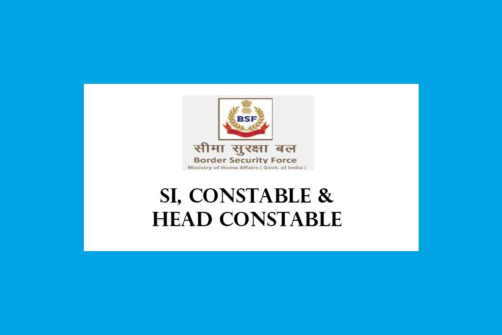 BSF Sub Inspector Head Constable Constable Recruitment 2020 – 317  Posts