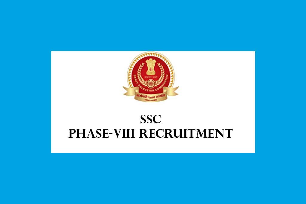SSC Phase-VIII Recruitment 2020 – 1297 Posts