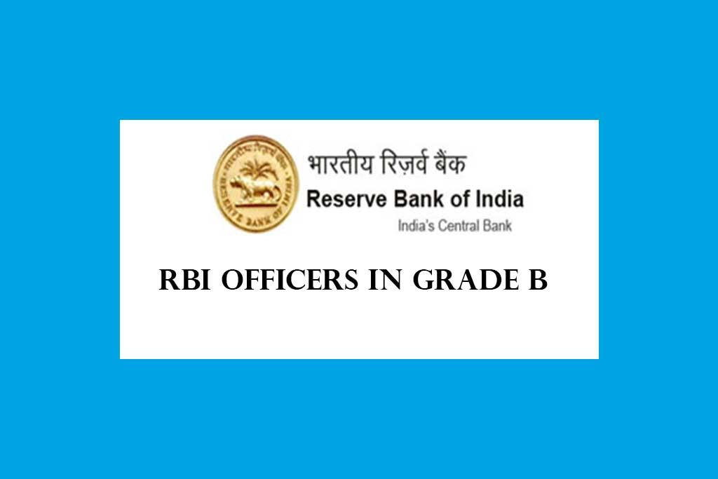 RBI Officers in Grade B Recruitment 2021
