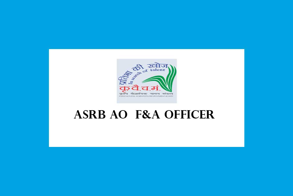 ASRB Administrative Finance Accounts Officer Recruitment 2021 – 65 Posts